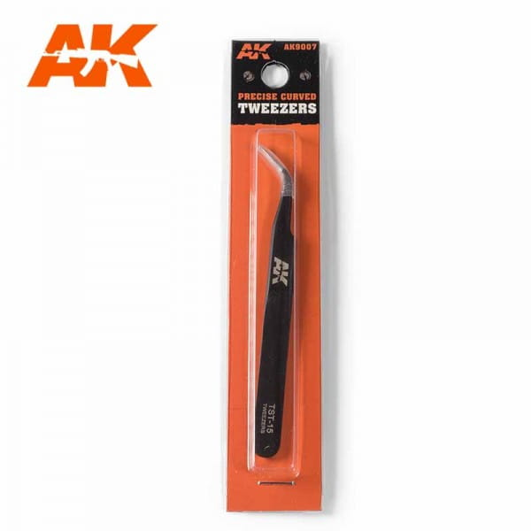 AK Interactive Precise Curved Tweezers