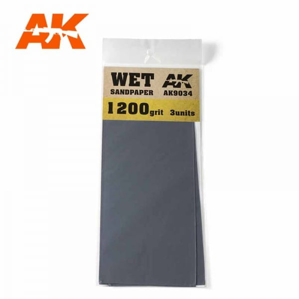 Wet Sandpaper 1200 Grit. 3 units