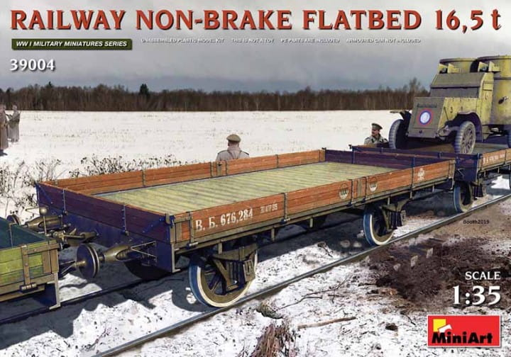 Railway Non-brake Flatbed 16,5 t / 1:35