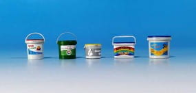 Plastic containers for paint / 1:35