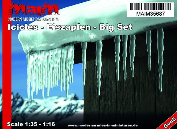 Iccicles - Eiszapfen - Big Set / Uniscale 1:35 - 1:16