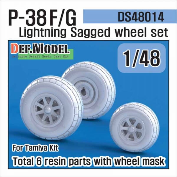 P-38 F/G Lightning Sagged Wheel set (for TAMIYA) / 1:48