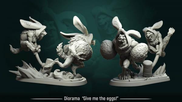 Give me the Egg -Full Diorama-