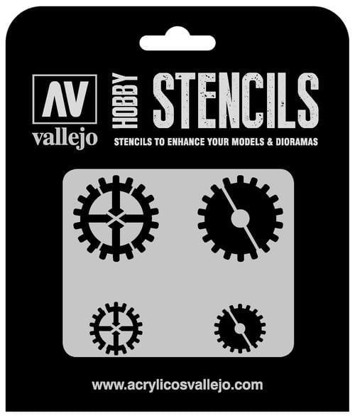 Vallejo Hobby Stencils: Gear Markings