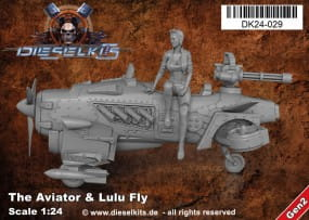 The Aviator + Lulu Fly - Steam Punk Vehicle / 1:24