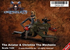 The Aviator + Christine the Mechanic - Steam Punk Vehicle / 1:24