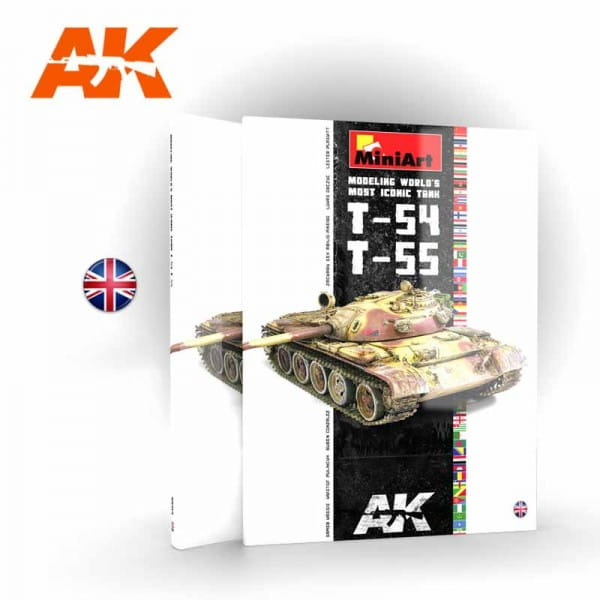 AK Interactive T-54/T-55 Modeling World's Most Iconic Tank - Book - English