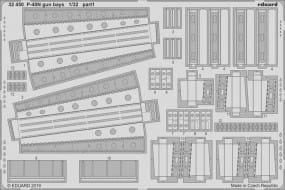 P-40N gun bays - Trumpeter - / 1:32