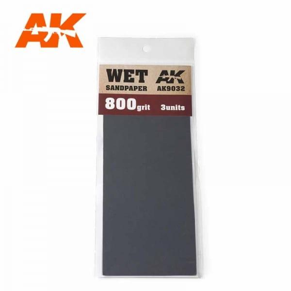AK Interactive Wet Sandpaper 800 Grit. 3 units