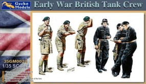 Early War British Tank Crew / 1:35