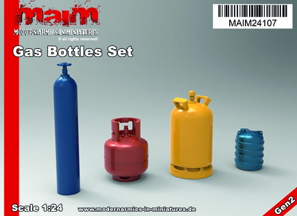 Gas Bottle Set / 1:24