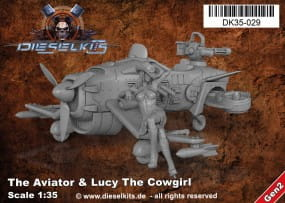 The Aviator + Lucy the Cowgirl - Steam Punk Vehicle / 1:35