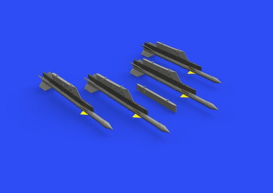 R-3R missiles w/ pylons for MiG-21 - Eduard - / 1:72