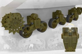 US tank M3 Lee/Grant suspension set / 1:35