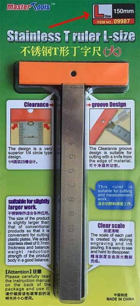 Trumpeter Stainless T Ruler L-size