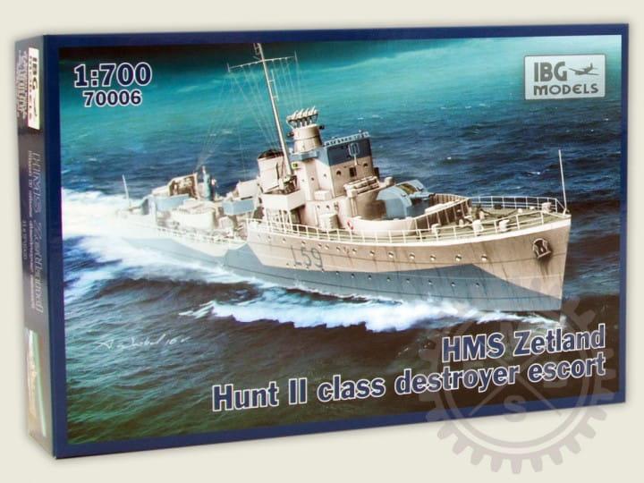 IBG Models HMS Zetland 1942 Hunt II class destroyer escort / 1:700