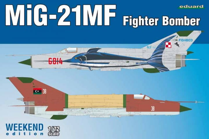 Eduard Models MiG-21MF Fighter-Bomber - Weekend Edition / 1:72