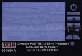 ZIMMERIT PANTHER A Early , DAIMLER-BENZ Pattern - Takom - / 1:35