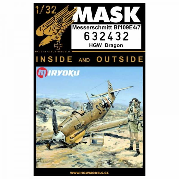 HGW Decals Bf109E-4/7 - Masks - Dragon / Cyber Hobby - / 1:32