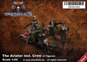 The Aviator inkl. Crew (4 Figures) - Steam Punk Vehicle / 1:24