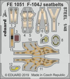 F-104J seatbelts STEEL - Kinetic - 1/48