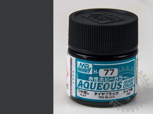 H77 Reifenschwarz, matt, Mr.Hobby Color / 10ml