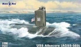 USS Albacore (AGSS-569) submarine / 1:350