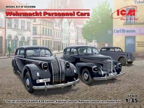 Wehrmacht Personnel Cars (Kadett K38 Saloon, Kapitän Saloon, Admiral Saloon) / 1:35