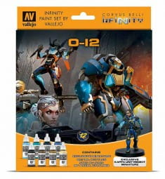 Vallejo Model Color: Infinity O-12 Exclusive Miniature Paint Set (8x17ml)