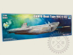 German Type VIIC U-Boat U-552 / 1:48