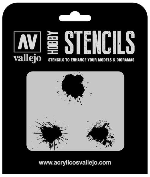 Vallejo Hobby Stencils: Paint Stains - 1:35