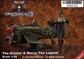 The Aviator + Marcy the Legend - Steam Punk Vehicle / 1:35