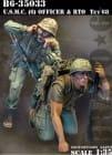 USMC Officer (6) & RTO ~TET 1968~ / 1:35