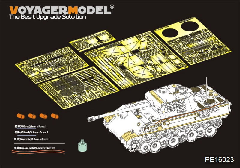Full Interior Rye Field Model 5016-1//35 WWII Dt Sdkfz 171 Panther G Neu