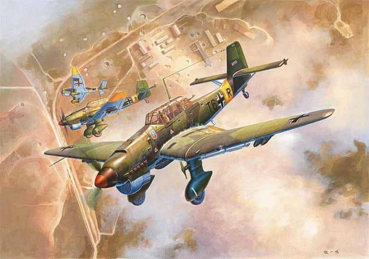 Junkers Ju-87B-2 Stuka / 1:24