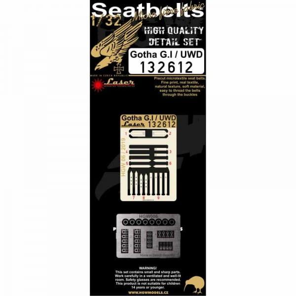 Gotha G.I / UWD - Seatbelts - Wingnut Wings - / 1:32