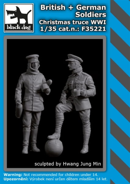 British+German soldiers Christmas truce WW I / 1:35