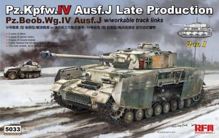 Pz.Kpfw.IV Ausf.J Late Production / Pz.Beob.Wg.IV Ausf.J / 1:35