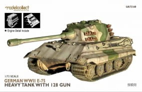 Fist of War: German WWII E-75 heavy tank with 128 gun / 1:72