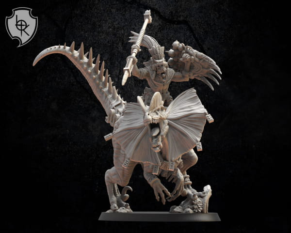 Saurian General on Dilophosaurus