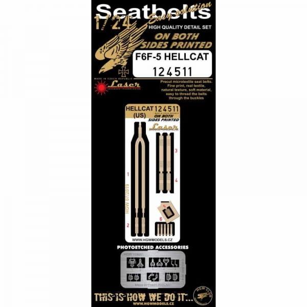 HGW Decals Hellcat - Seatbelts / 1:24