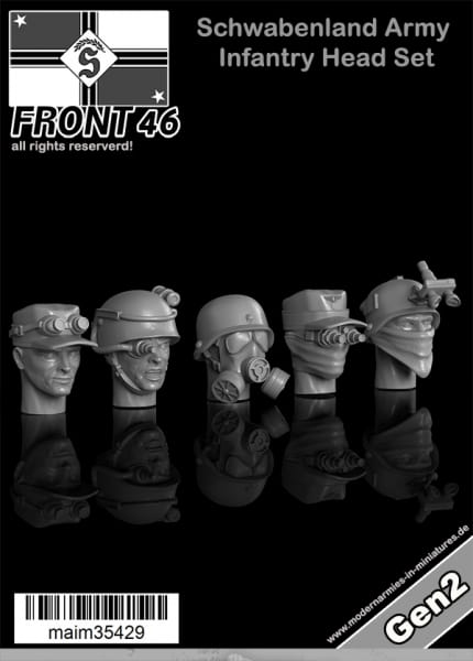 Schwabenland Army Infantry Head Set - Front46 (5pcs) / 1:35