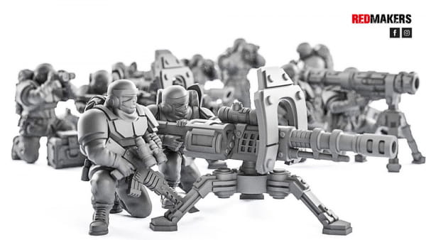 Heavy Bolter- Alpha troops  - Heavy Support Squad of the Imperial Force