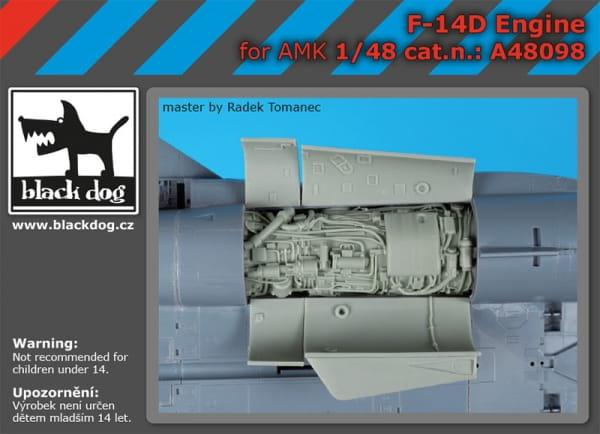 F-14 D engine - AMK - / 1:48