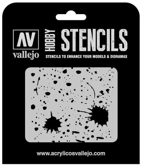 Vallejo Hobby Stencils: Splash & Stains - 1:35
