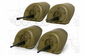 T-34 Front Machine Gun Mount (4 type) set 1 / 1:35