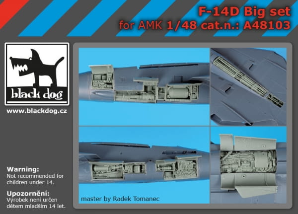 F-14 D big set - AMK - / 1:48