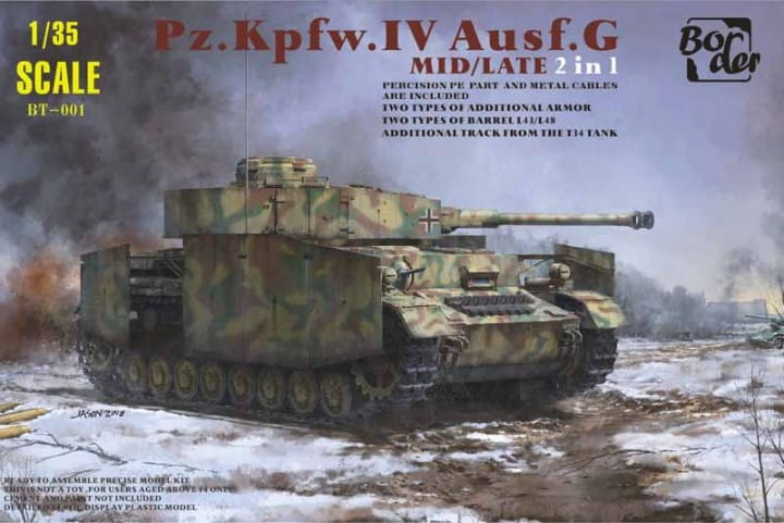Border Model Panzer IV Ausf.G Mid/Late 2in1 / 1:35