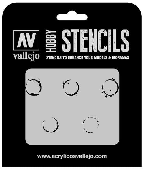 Vallejo Hobby Stencils: Drum Oil Markings - 1:35