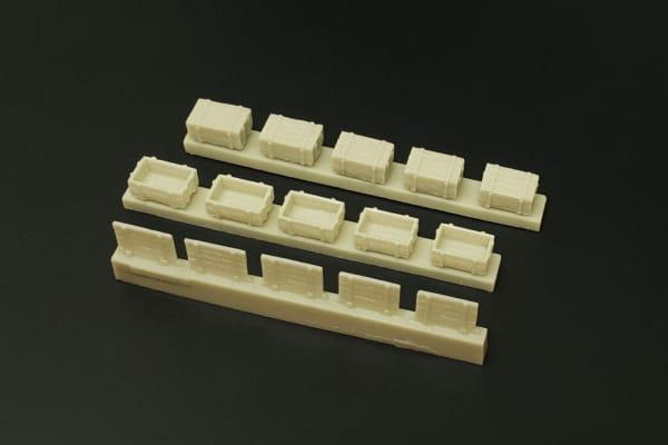 Wooden boxes / Holzkisten / 1:72